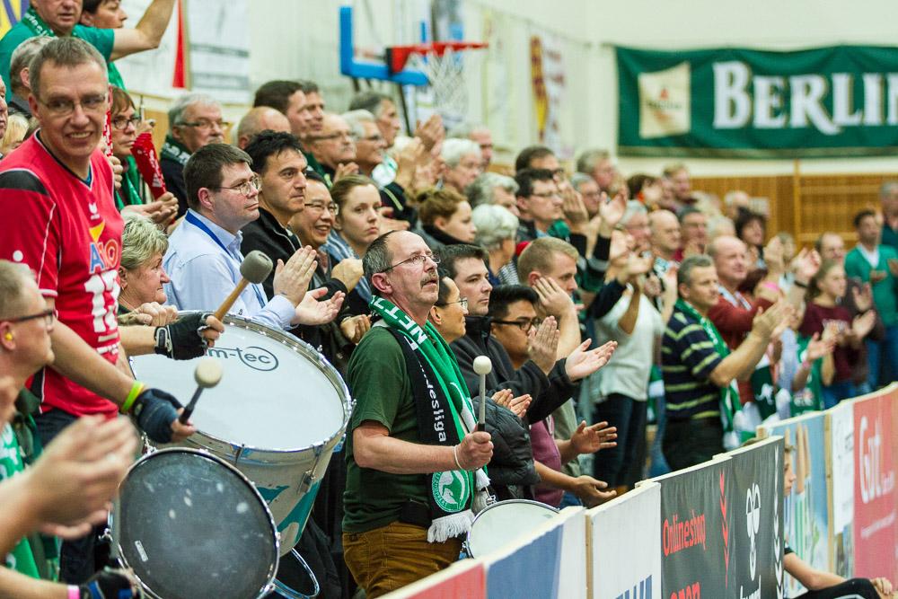 GER, Königs Wusterhausen/Bestensee, Volleyballl, 1. Bundesliga, Saison 2015/2016, Landkost-Arena, Netzhoppers KW – Chemie Volley Mitteldeutschland
